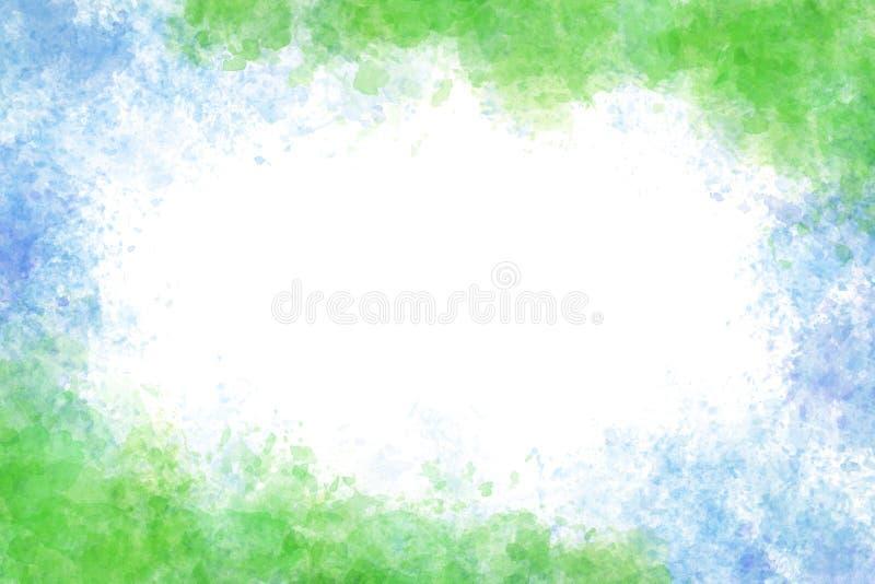Lata błękitny, świeży zielony farby tło i ilustracja wektor