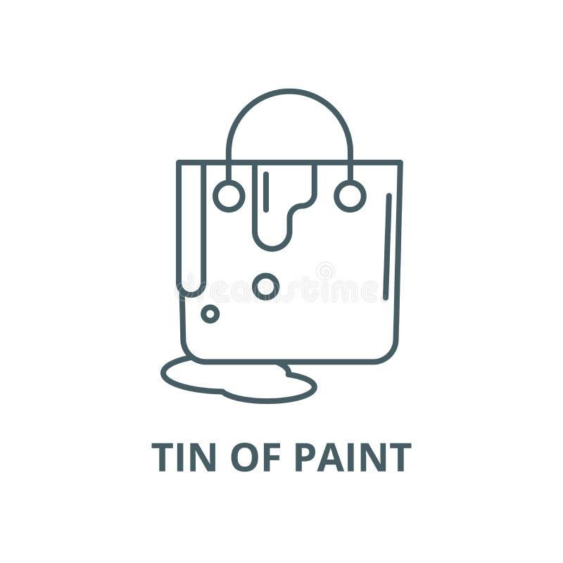 Lata da linha ícone do vetor da pintura, conceito linear, sinal do esboço, símbolo ilustração royalty free