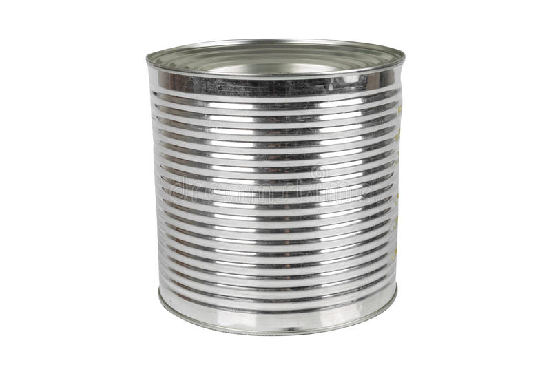 Lata de aluminio para la comida imagenes de archivo