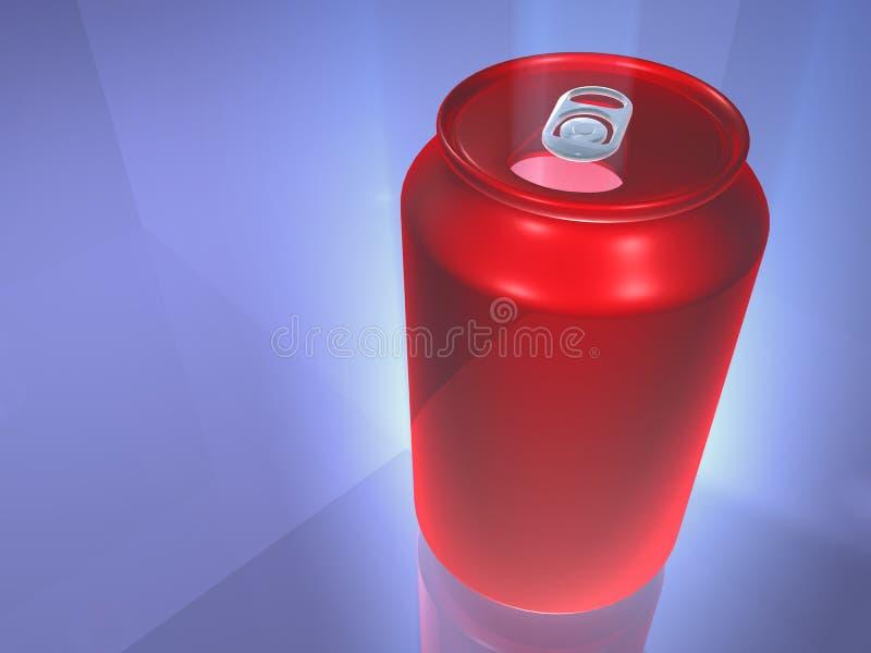 Lata de bebida vermelha ilustração do vetor