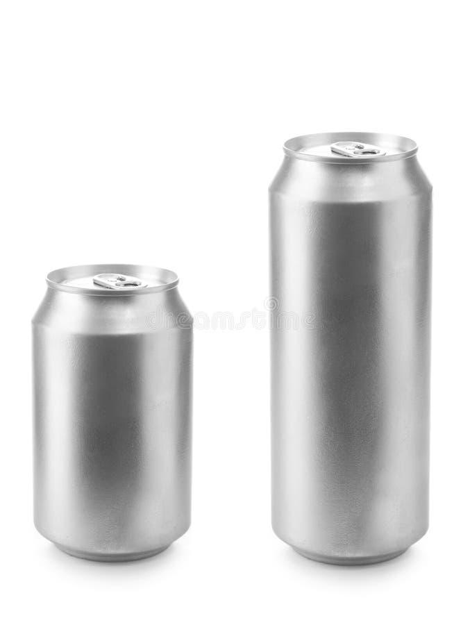 Lata de cerveja 330 e 500 ml fotografia de stock