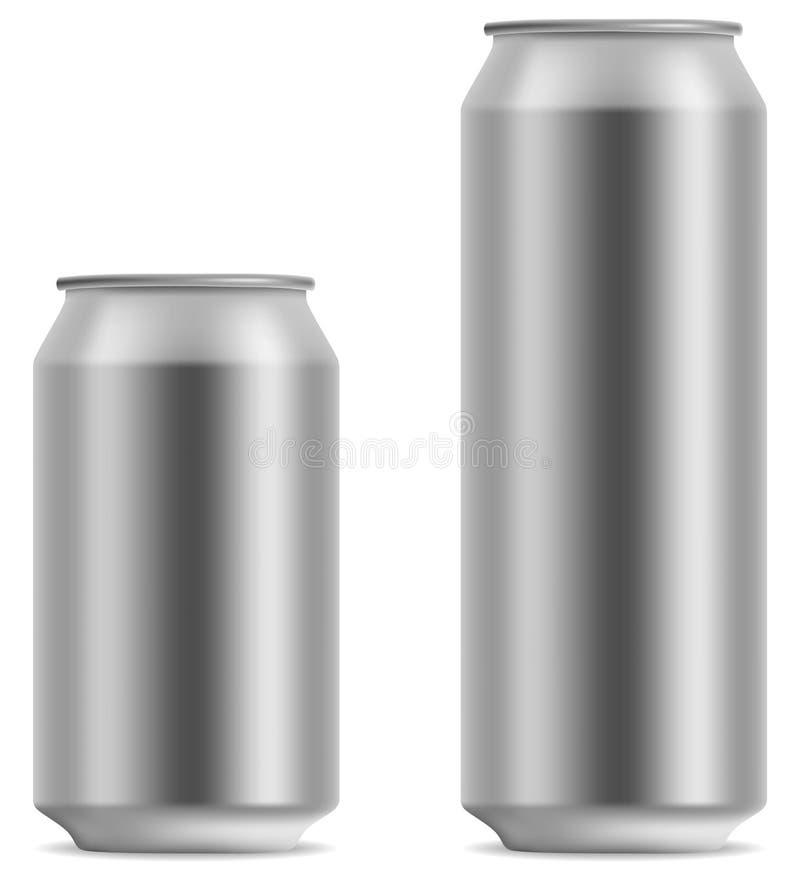 Lata de cerveja em branco ilustração stock