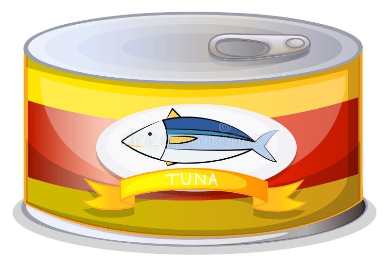 Lata de A do atum ilustração stock