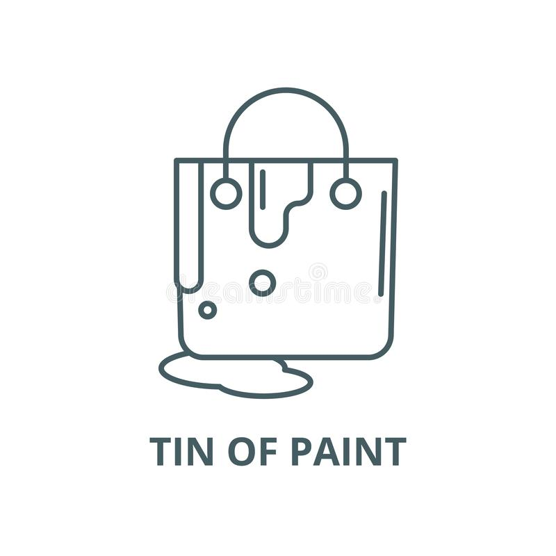 Lata de la línea icono, concepto linear, muestra del esquema, símbolo del vector de la pintura libre illustration