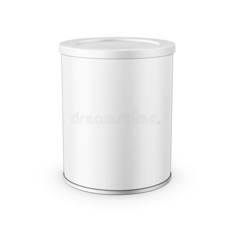 Lata de lata para o leite de pó ilustração royalty free
