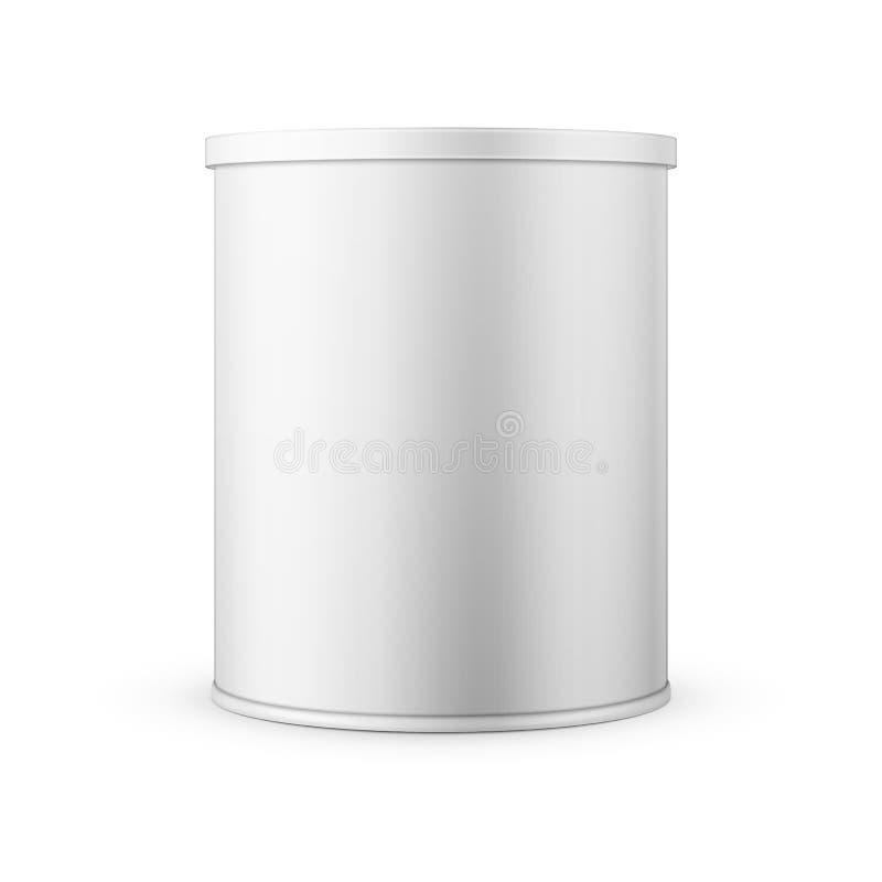 Lata de lata para o leite de pó ilustração do vetor