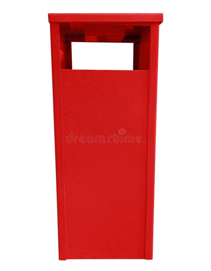 Lata de lixo - vermelho foto de stock royalty free