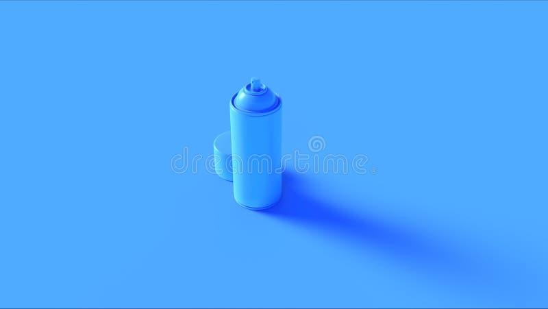 Lata de pulverizador azul brilhante ilustração do vetor