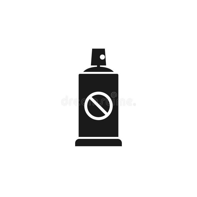Lata de pulverizador do inseticida ilustração do vetor