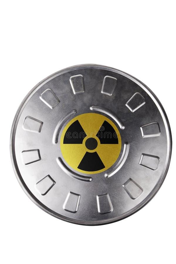 Lata de Radiactive imagem de stock