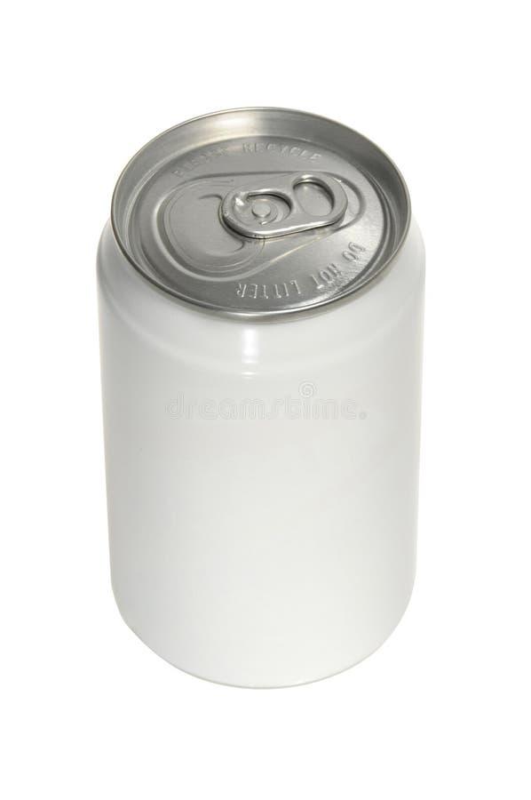 Lata de soda de alumínio imagem de stock