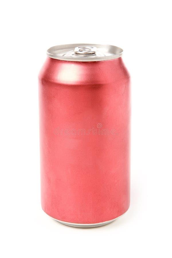 Lata de soda em branco imagens de stock royalty free