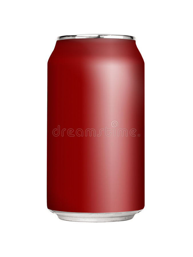 Lata de soda em branco foto de stock royalty free