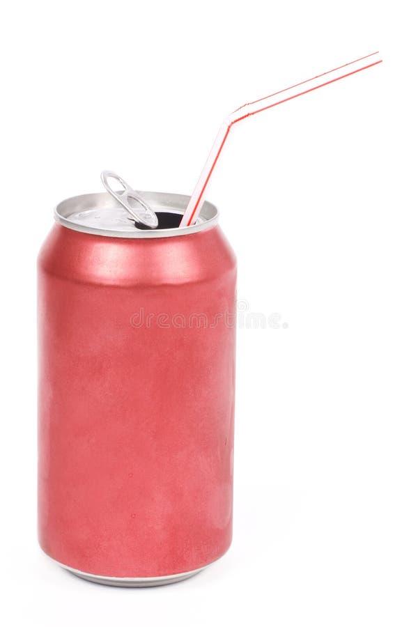 Lata de soda vermelha foto de stock royalty free