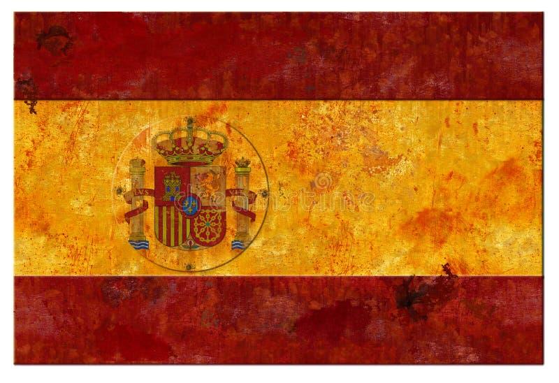 Lata espanhola do Grunge da bandeira da Espanha foto de stock