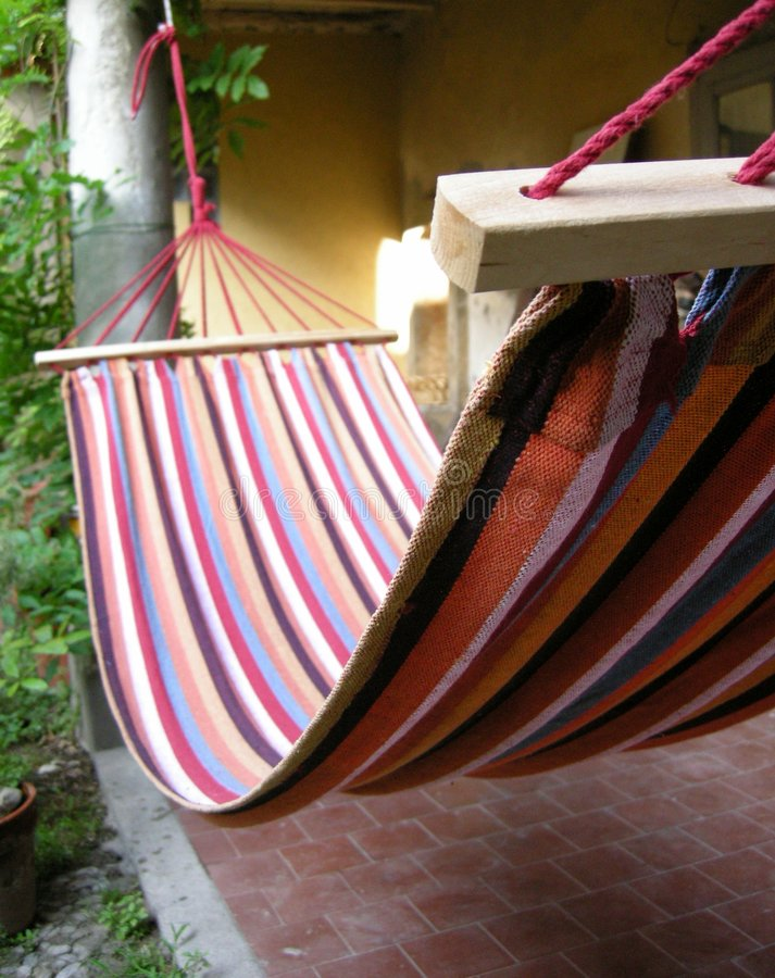 lata hamaka ogrodniczego Toskanii fotografia royalty free