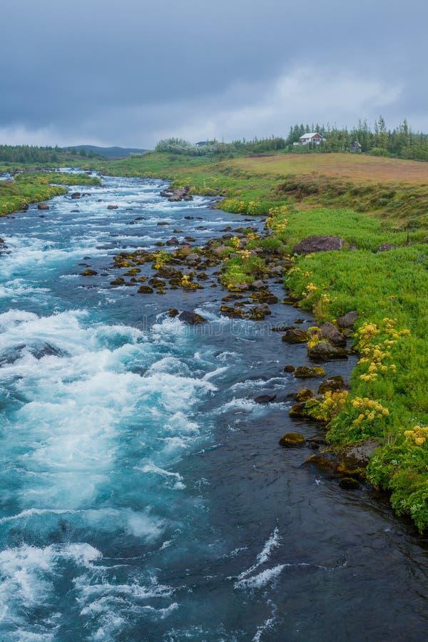 Lata Iceland krajobraz z… fotografia stock