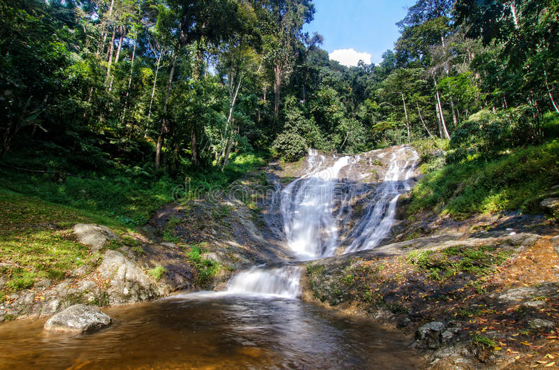 Lata Iskandar Waterfall Cameron Highlands imagem de stock
