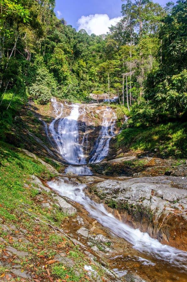 Lata Iskandar Waterfall Cameron Highlands photo libre de droits
