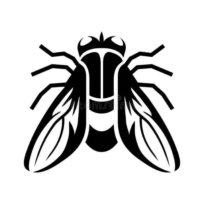 Lata logo, zatrzymuje komarnicy, insekt zaraza, ręka rysujący nakreślenie komarnica ilustracji