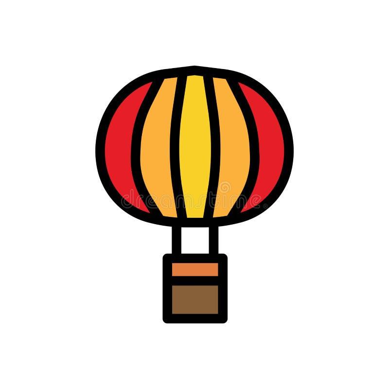 Lata lotniczego balonu lata logo wektorową ikonę lub ilustrację Editable kolor i uderzenie Doskonali? u?ywa dla wzoru i projekta  ilustracji