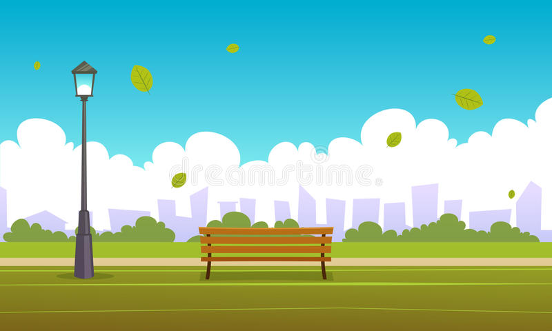 Lata miasta park ilustracji