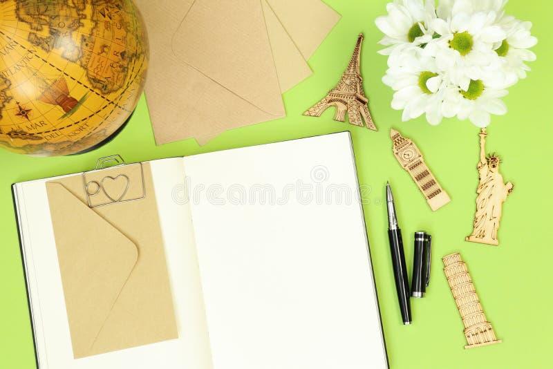 Lata mockup notatki dla podróżować zdjęcie royalty free