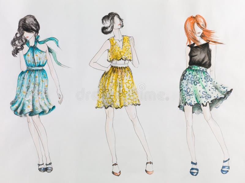 lata mody ilustracja wektor