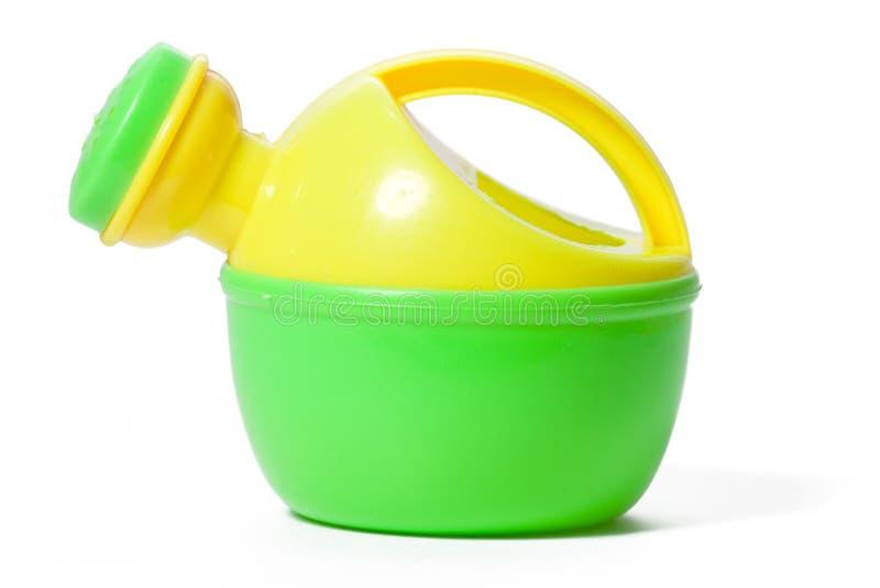 Lata molhando plástica do brinquedo fotografia de stock royalty free