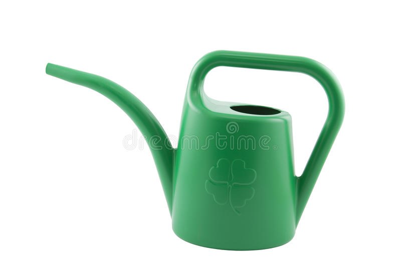 Lata molhando verde fotografia de stock royalty free