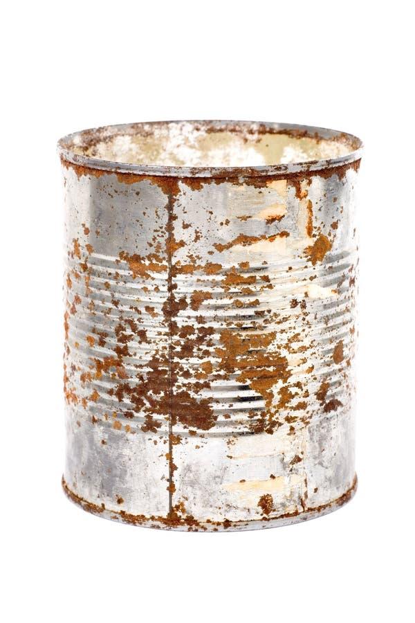 Lata oxidada do metal foto de stock
