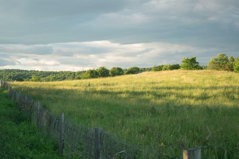 Lata popołudnie w wzgórzach Vermont zdjęcie royalty free