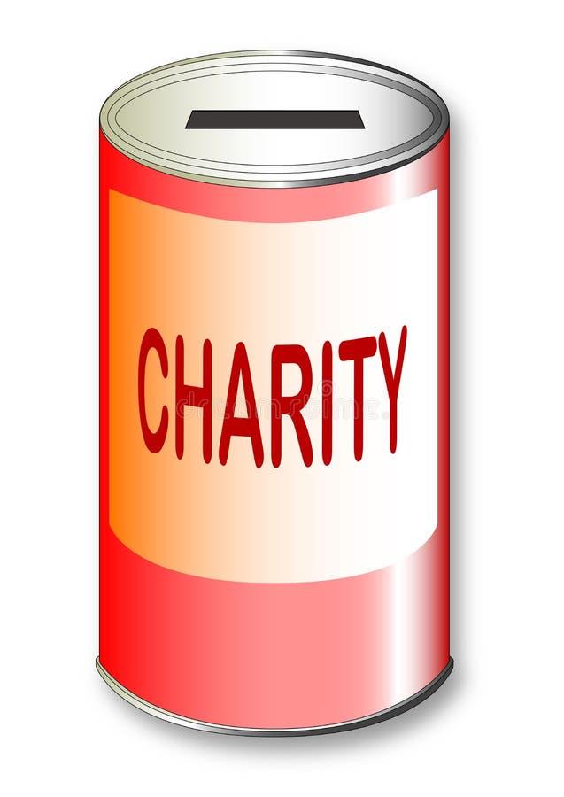 Lata redonda da caridade ilustração royalty free