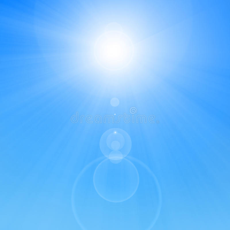 Lata słońce ilustracja wektor