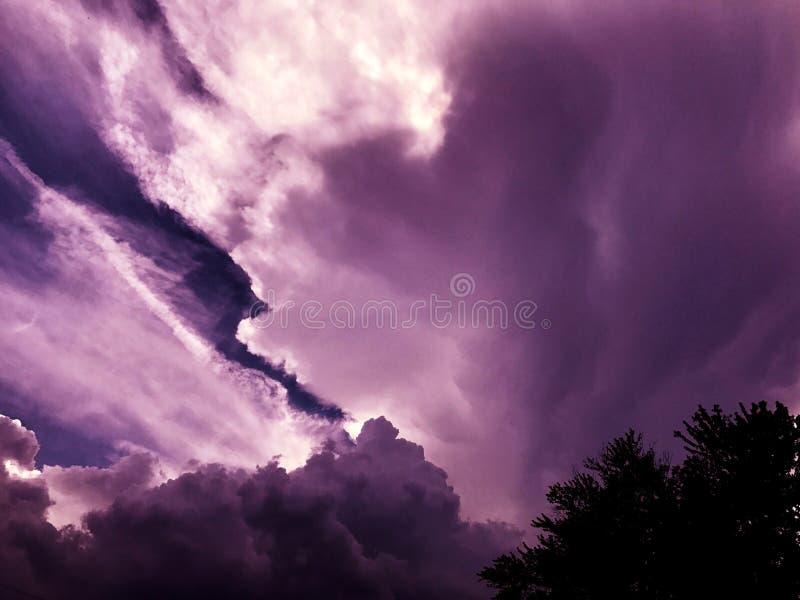Lata sky& x27; s zdjęcie stock