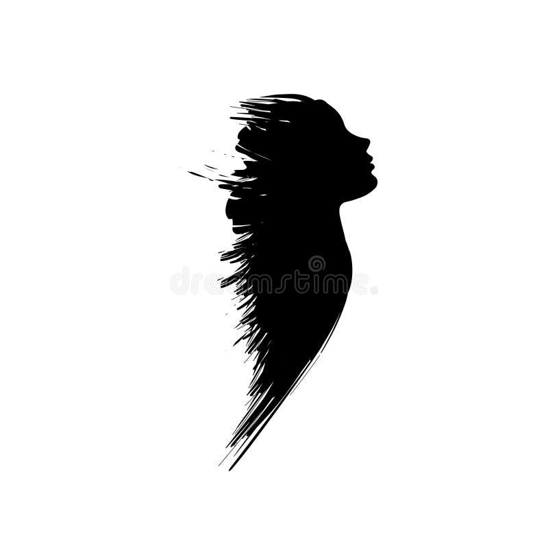 Latająca grunge kobieta royalty ilustracja