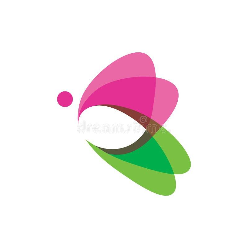 Latający Motyli Piękny logo - Prosty Nowożytny styl ilustracja wektor