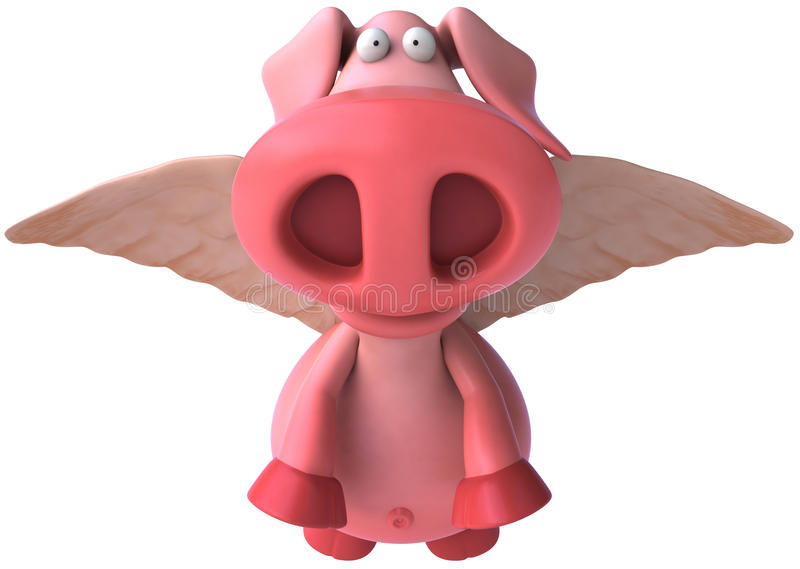 latająca świnia ilustracji