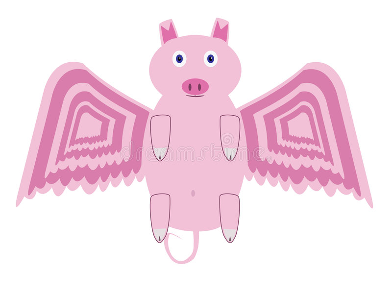 latająca świnia ilustracja wektor