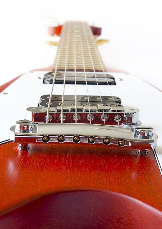 latająca gitara elektryczna v fotografia stock
