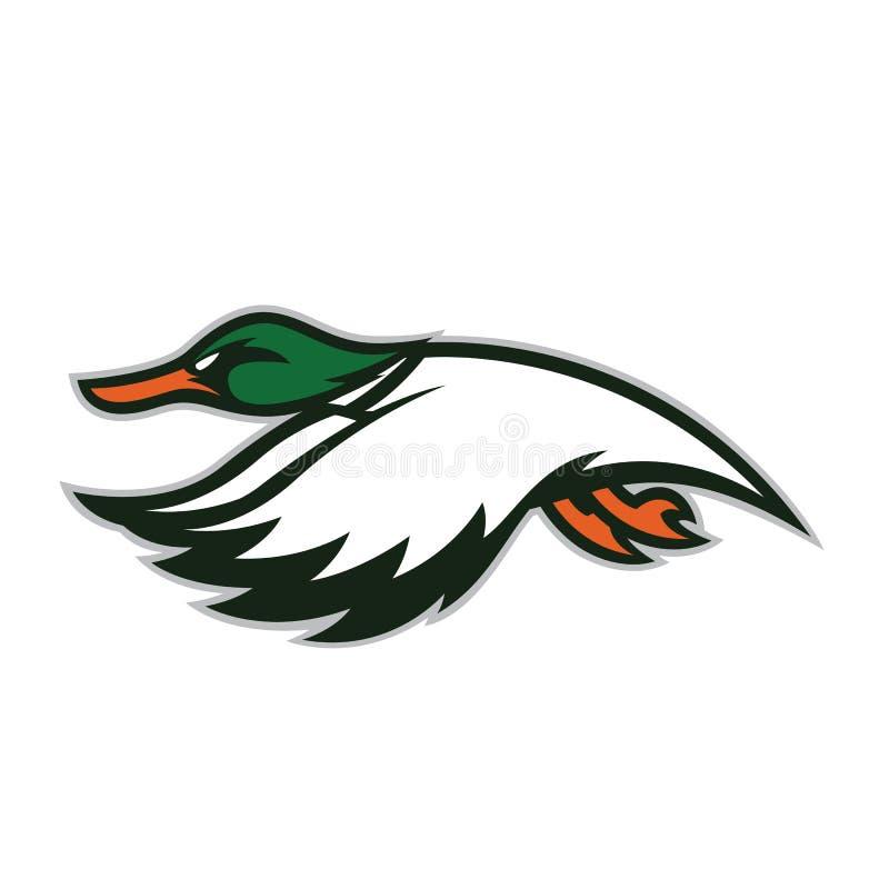 Latająca kaczki maskotka royalty ilustracja