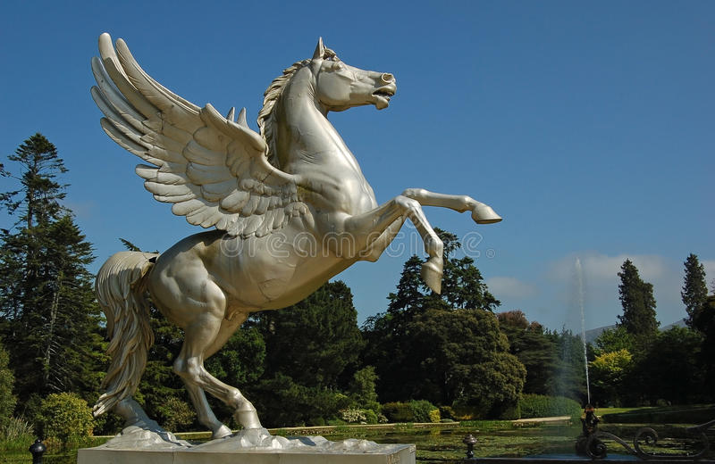 latająca końska statua zdjęcie stock