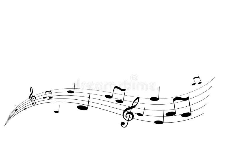 latająca muzyki ilustracja wektor