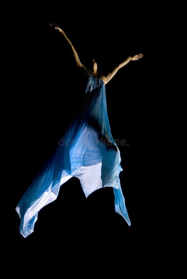 latająca noc festiwalu tancerkę. fotografia stock
