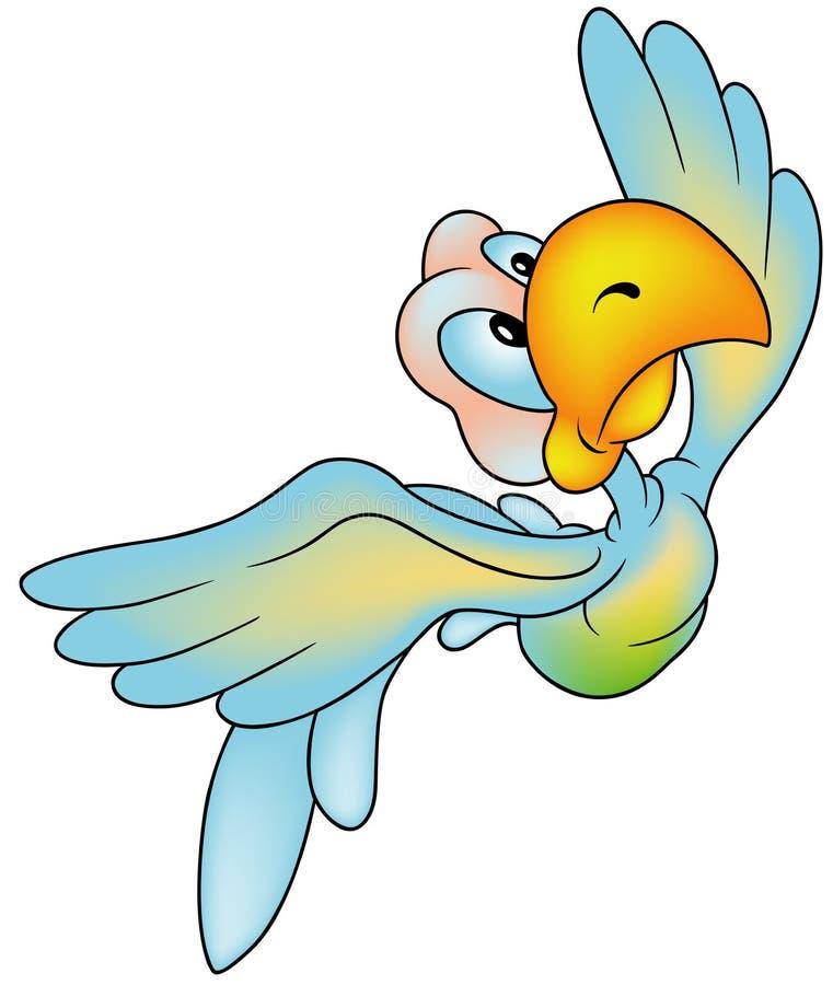 latająca papuga ilustracji