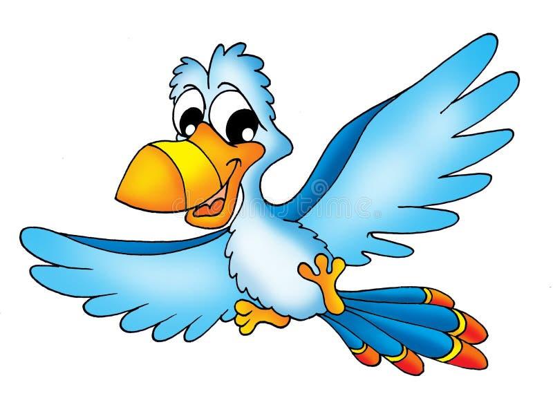 latająca papuga royalty ilustracja
