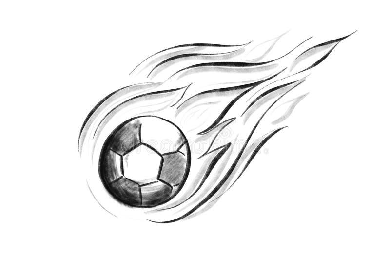 Latająca piłka z ogieniem fotografia stock