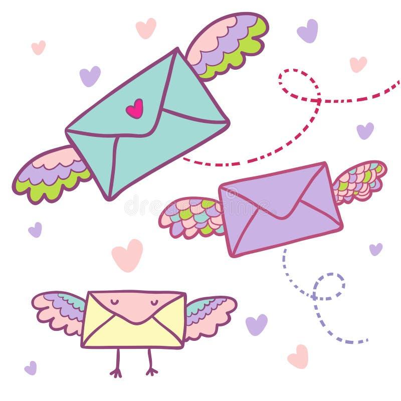 latająca poczta ilustracja wektor