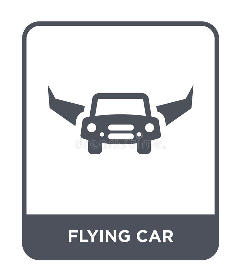 latająca samochodowa ikona w modnym projekta stylu latająca samochodowa ikona odizolowywająca na białym tle latająca samochodowa  ilustracja wektor