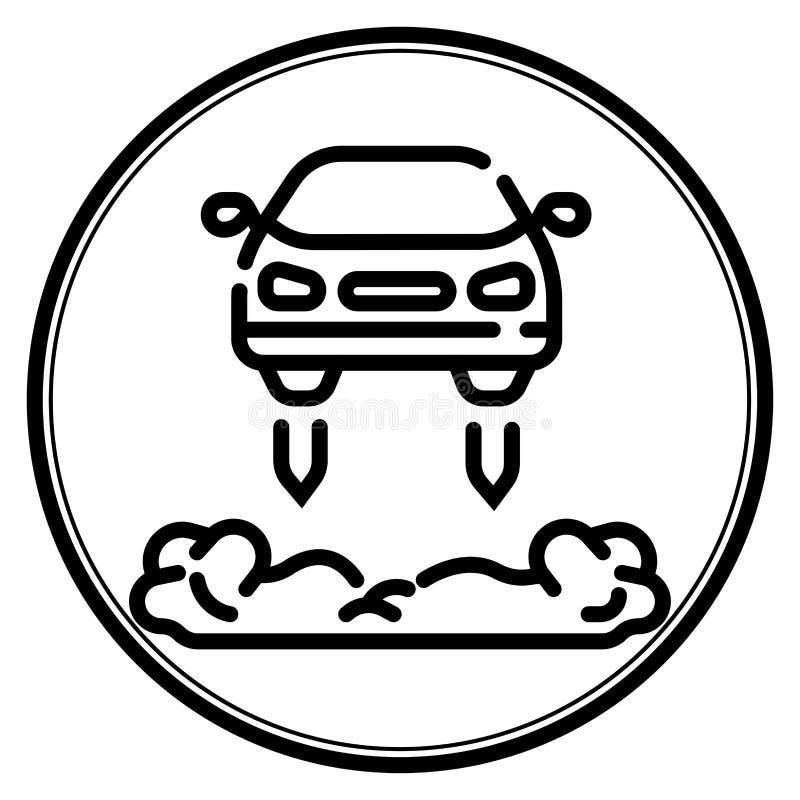 Latająca samochodowa ikona ilustracji